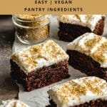Pinterest image for Easy Chocolate Sheet Cake - pin image 3.
