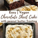Pinterest image for Easy Chocolate Sheet Cake - pin image 4.