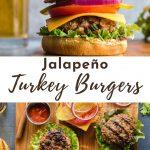 Pinterest image for Turkey Jalapeno Burgers - pin 1.