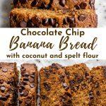 Pinterest image for spelt flour banana bread - pin 3.