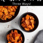 Pinterest image for Air Fryer Roasted Carrots - pin 2.