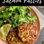 Pinterest image for Air Fryer Salmon Patties - pin 1.