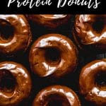 Pinterest image for Protein Donuts - pin 4.