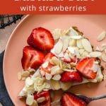 Pinterest image for Vegan Strawberry Custard Tart - pin 1.