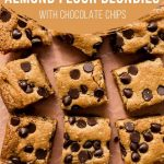 Pinterest image for Almond Flour Blondies - short pin 1.