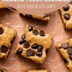 Pinterest image for Almond Flour Blondies - short pin 2.