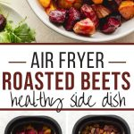 Pinterest image for Air Fryer Roasted Beets - long pin.