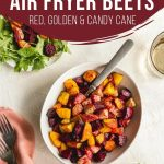 Pinterest image for Air Fryer Beets - short pin.