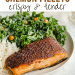 Pinterest image for Air Fryer Salmon Recipe - short pin 1.