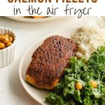 Pinterest image for Air Fryer Salmon Recipe - short pin 2.