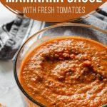 Pinterest image for Homemade Marinara Sauce - short pin 1.