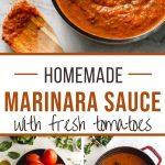 Pinterest image for Homemade Marinara Sauce - long pin.