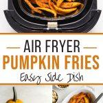 Pinterest image for Air Fryer Pumpkin Fries - long pin 1.