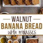 Pinterest image for Walnut Banana Bread - long pin.