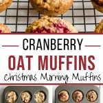 Pinterest image for Cranberry Oatmeal Muffins - long pin 1.