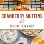 Pinterest image for Cranberry Oatmeal Muffins - long pin 2.