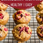Pinterest image for Cranberry Oatmeal Muffins - short pin.