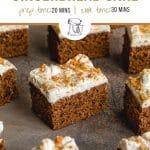 Pinterest image for Easy Gingerbread Cake Recipe - short pin.