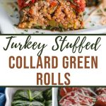 Pinterest image for Stuffed Collard Greens - long pin 1.