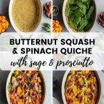 Pinterest image for Butternut Squash Quiche - short pin 3.