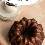 Pinterest image for Chocolate Cranberry Cake - long pin 2.