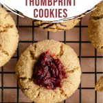 Pinterest image for Cranberry Thumbprint Cookies - short pin 1.