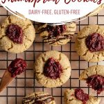 Pinterest image for Cranberry Thumbprint Cookies - short pin 2.