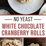 Pinterest image for Cranberry White Chocolate Rolls - long pin 1.