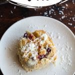 Pinterest image for Cranberry White Chocolate Rolls - long pin 3.