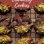 Pinterest image for Cranberry Pistachio Cookies - short pin 2.
