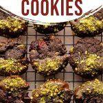 Pinterest image for Cranberry Pistachio Cookies - long pin 3.