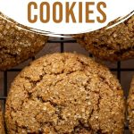Pinterest image for Ginger Molasses Cookies - long pin 1.