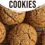 Pinterest image for Ginger Molasses Cookies - long pin 2.