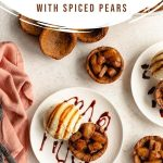 Pinterest image for Gingerbread Cookie Cups with Spiced Pears - long pin 3.