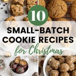Pinterest image for Small Batch Cookie Recipes for Christmas - pin 1.
