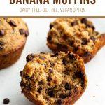 Pinterest image for spelt banana muffins - pin 1.