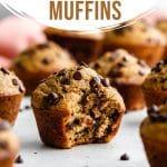 Pinterest image for spelt banana muffins - pin 2.