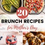 Pinterest image with a collage of 4 brunch recipes.