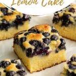 Pinterest image for Blueberry Lemon Cake.
