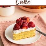 Pinterest image for almond flour cake.