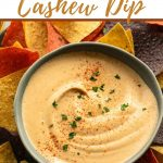 Pinterest image for chipotle cashew dip.