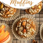 Pinterest image for apple spice muffins.